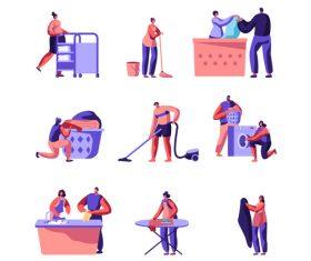 Cartoon laundry vector