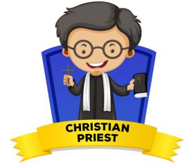 Cartoon missionary illustration vector