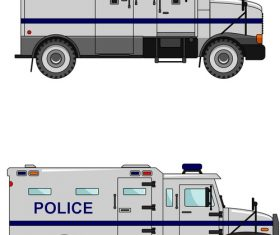 Cartoon police car illustration vector
