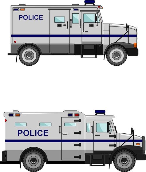 Cartoon police car illustration vector