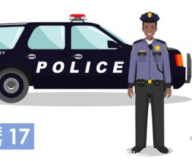 Cartoon police partner vector