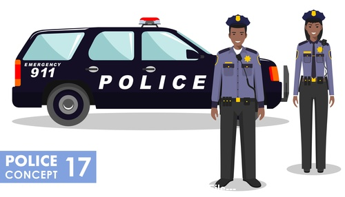 Cartoon police partner vector