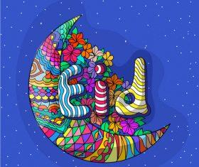 Cartoon ramadan festival vector