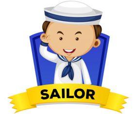 Cartoon sailor illustration vector