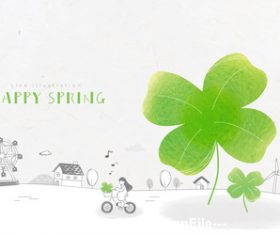 Cartoon spring illustration vector
