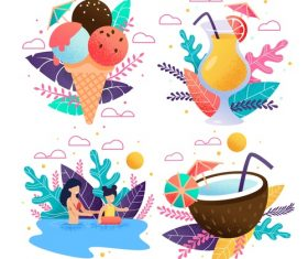 Cartoon summer travel vector