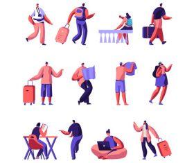 Cartoon travel vector