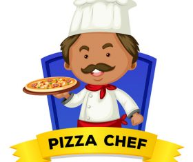 Chef occupation word card vector