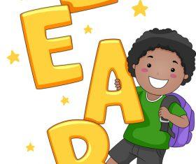 Children cartoon template vector