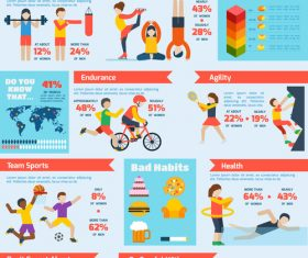 Choose the sport that suits you Infographics vector
