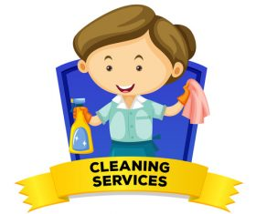 Cleaning services cartoon illustration vector