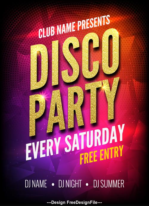 Club disco party dance poster vector