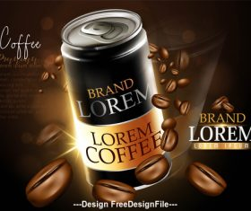 Coffee sale poster vector