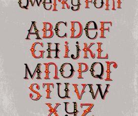 Color alphabet Vector