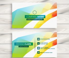 Color premium business card design vector
