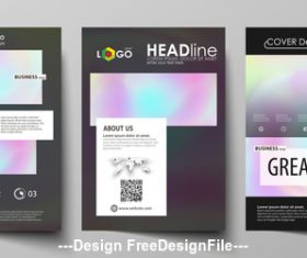 Color templates for bi fold brochure vector
