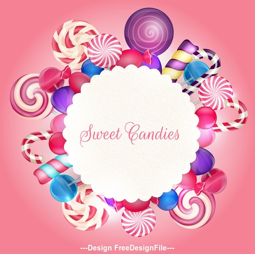 Colorful candy background illustration vector