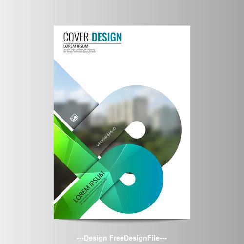 Company brochure design vector 01