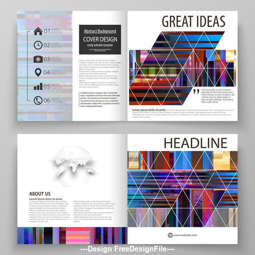 Company business template vector