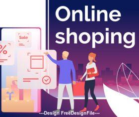 Concept online shopping vector