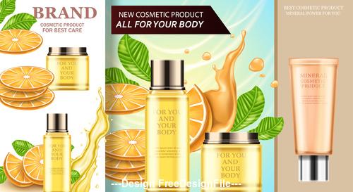 Cosmetics advertising poster vector