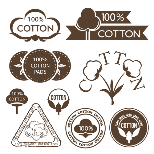Cotton label vector