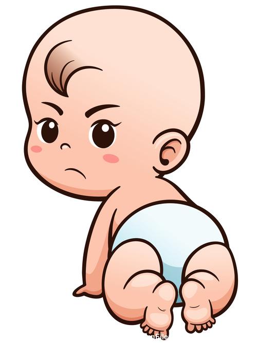 Crawling baby looking back vector illustration vector