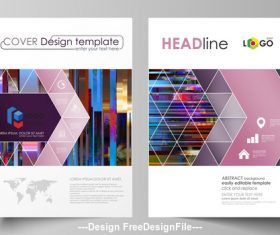Creative Business templates cover vector