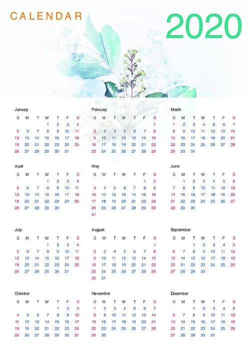 Creative Calendar 2020 PSD Template