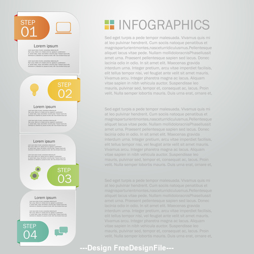 Creative Infographics template vector
