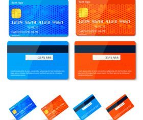 Credit Cards Vector Templates vector