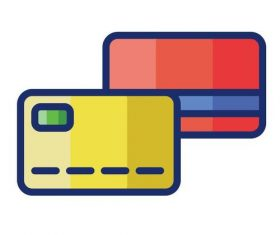 Credit card cartoon vector