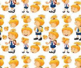 Cute children seamless background vector