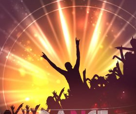 Dance Party Poster Background Template vector
