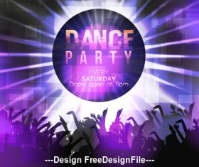Dance Party Poster Template vector