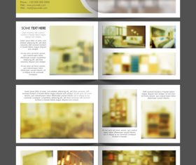 Decoration design brochure vector