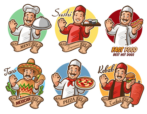 Delicious food around the world vector