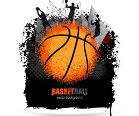Design for basketball vector
