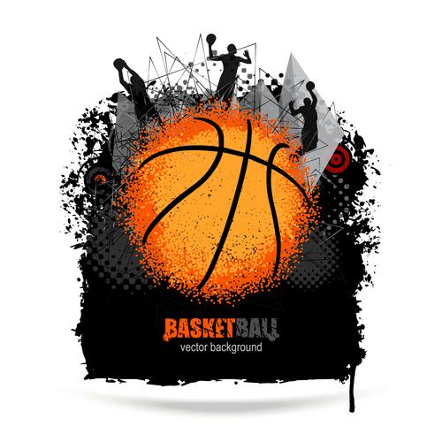 Design for basketball vector