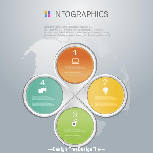 Diamond shape infographics design template vector
