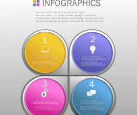 Different colors Infographics design template vector