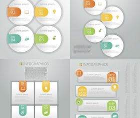 Different graphics Infographics design template vector