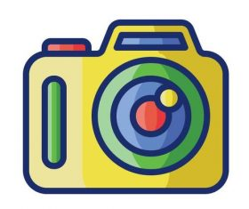 Digital camera cartoon vector