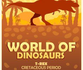 Dinosaur World Poster Tyrannosaurus Rex vector