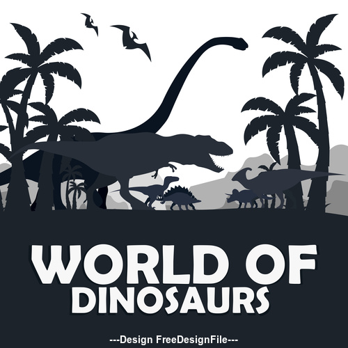 Dinosaur Silhouette Vector Free Download This feature also makes them more interesting despite the fact that we only got an idea of them based on archaeological and historical studies such. dinosaur silhouette vector free download