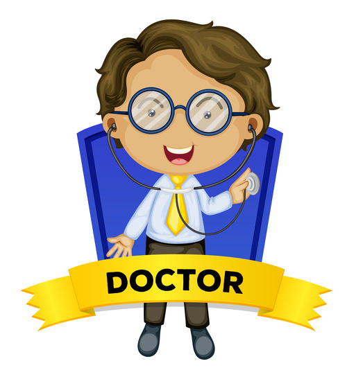 Doctor occupation word card vector