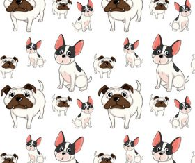 Dog cartoon background pattern vector