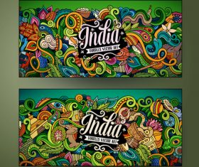 Doodle Indian mythology theme vector