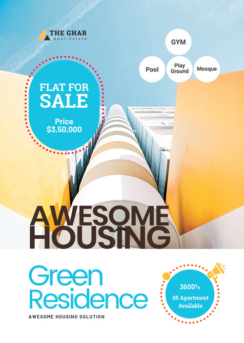 Double Side Realestate Apartment Sales Flyer PSD Template