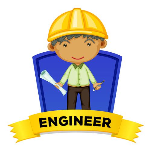 Engineer cartoon illustration vector